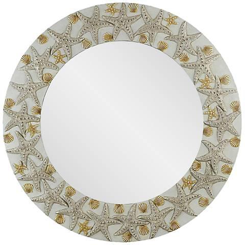 """Starfish Antique 30"""" Round Wall Mirror"""