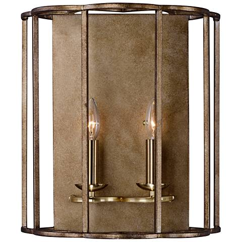 "Maxim Helix 16"" High Bronze Fusion 2-Light Wall Sconce"