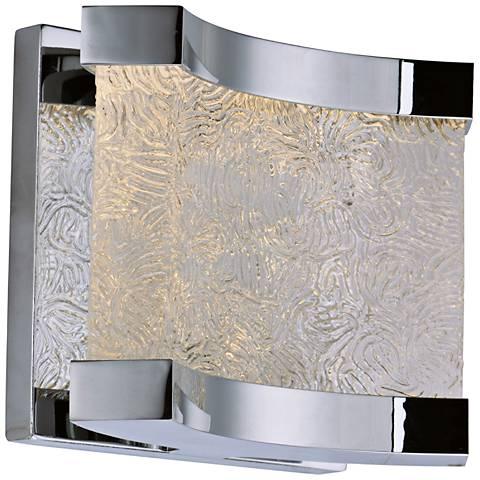 "Maxim Curl 5 1/2"" High Polished Chrome LED Wall Sconce"