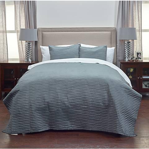 Parker Gray Fabric Quilt Set