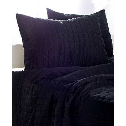 Satinology Black Fabric Quilt Set