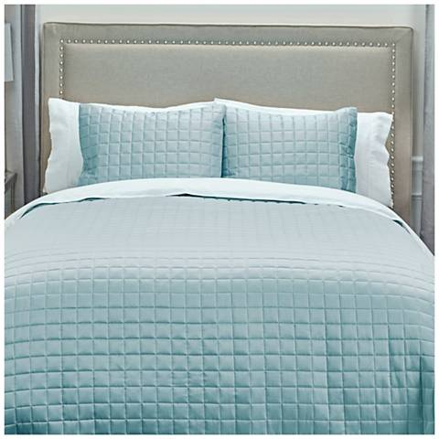 Satinology Blue Fabric Quilt Set