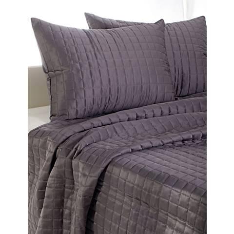 Satinology Gray Fabric Quilt Set