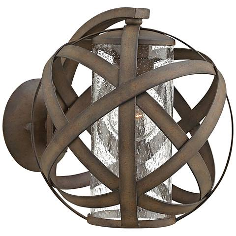"""Hinkley Carson 10 1/2""""H Vintage Iron Outdoor Wall Light"""