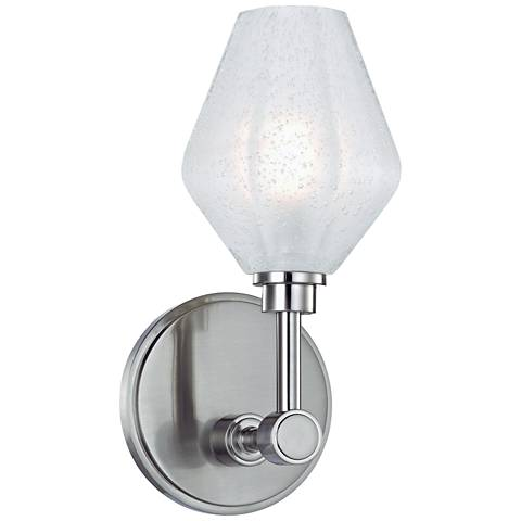 "Hudson Valley Orin 10"" High Satin Nickel LED Wall Sconce"
