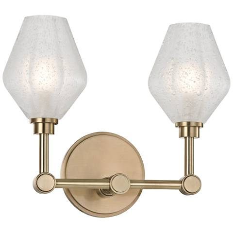"Hudson Valley Orin 10"" High Aged Brass 2-LED Wall Sconce"