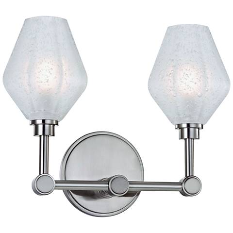 """Hudson Valley Orin 10"""" High Satin Nickel 2-LED Wall Sconce"""