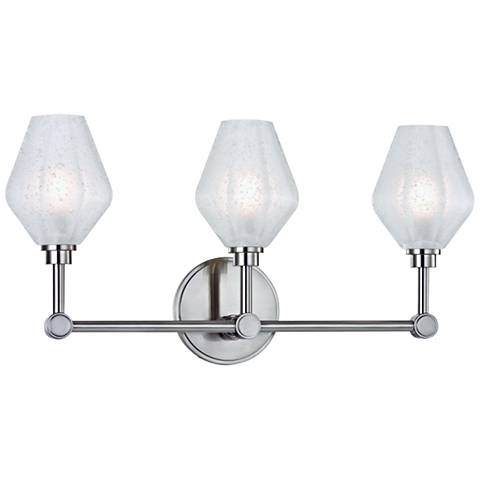 "Hudson Valley Orin 20 1/4""W Satin Nickel 3-LED Bath Light"