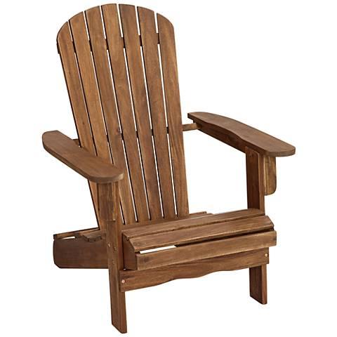 Monterey II Natural Folding Adirondack Chair