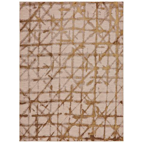 Enigma 90969 Contact Brushed Gold Area Rug