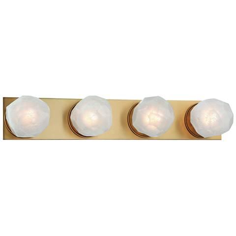"Hudson Valley Nimbus 24"" Wide Aged Brass 4-LED Bath Light"