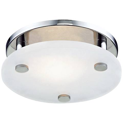 "Hudson Valley Croton 9""W Polished Nickel LED Ceiling Light"