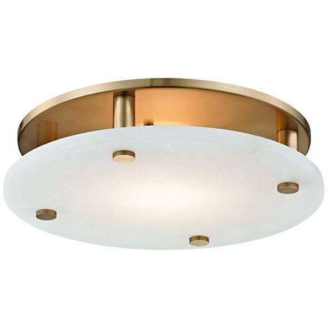 """Hudson Valley Croton 15"""" Wide Aged Brass LED Ceiling Light"""