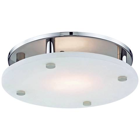 "Hudson Valley Croton 15""W Polished Nickel LED Ceiling Light"