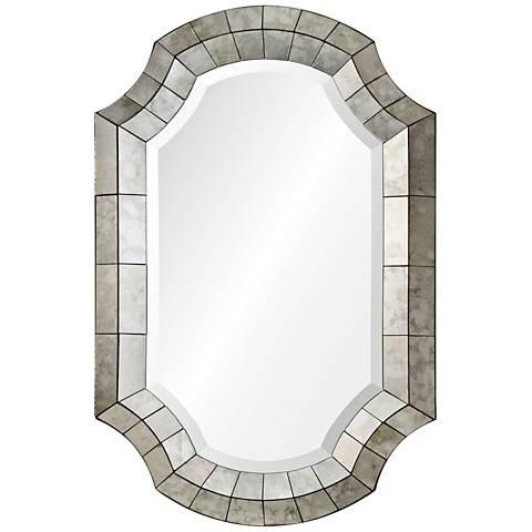 """Clarke Antique Mirror 24"""" x 36"""" Octagon Wall Mirror"""
