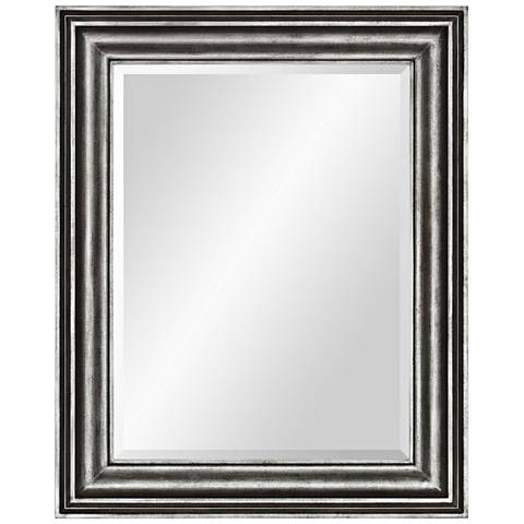"Tapley Gray Zinc 40"" x 50"" Oversized Wall Mirror"