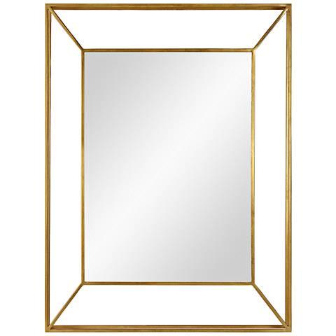 """Wilton Gold Iron 30"""" x 40"""" Wall Mirror"""