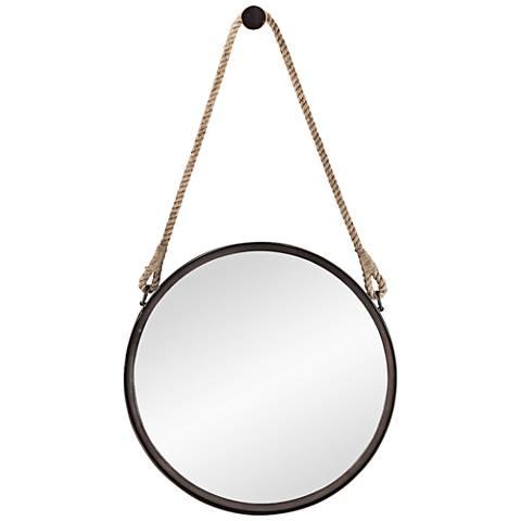 """Stirrup Bronze 18"""" Round Wall Mirror"""