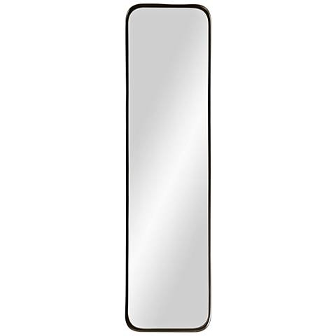 "Via Powder-Coated Iron 9"" x 36"" Wall Mirror"