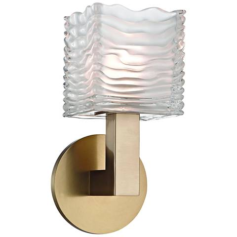 "Hudson Valley Sagamore 10"" High Aged Brass LED Wall Sconce"