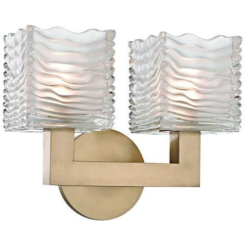 """Hudson Valley Sagamore 9"""" High Aged Brass 2-LED Wall Sconce"""