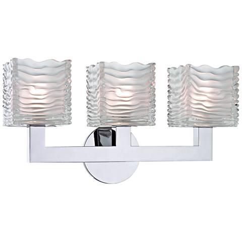 "Hudson Valley Sagamore 17 1/2"" Wide Chrome 3-LED Bath Light"