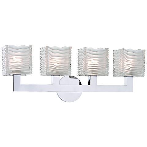 "Hudson Valley Sagamore 24"" Wide Chrome 4-LED Bath Light"