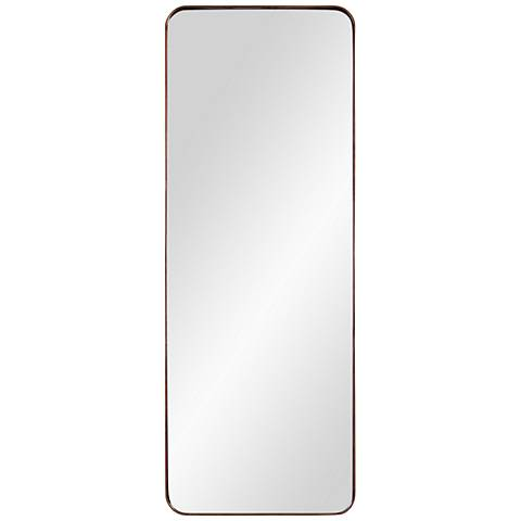 "Phiale Bronze Metal 19 3/4"" x 53"" Wall Mirror"