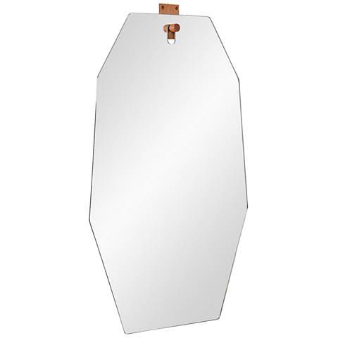 "Apse Glass 21 1/4"" x 34 1/2"" Octagonal Wall Mirror"