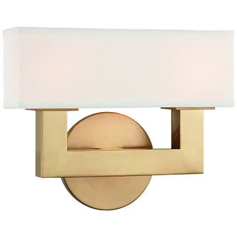 """Hudson Valley Clarke 8 1/4""""H Aged Brass 2-LED Wall Sconce"""