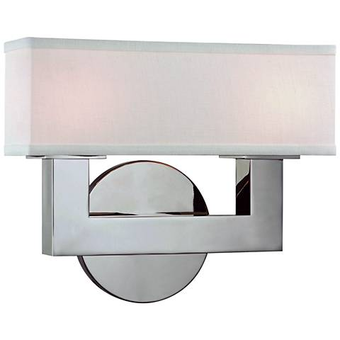 """Hudson Valley Clarke 8 1/4"""" High Nickel 2-LED Wall Sconce"""