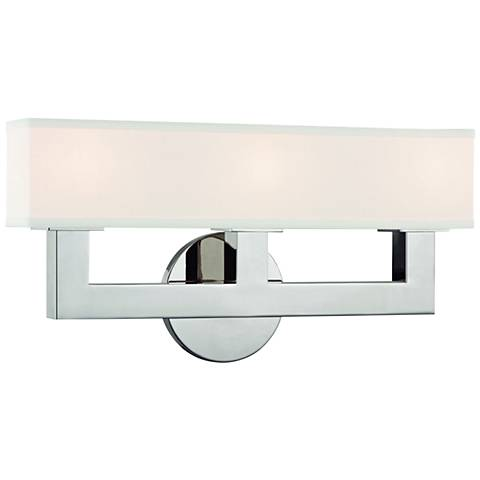 "Hudson Valley Clarke 16 1/2"" Wide Nickel 3-LED Bath Light"