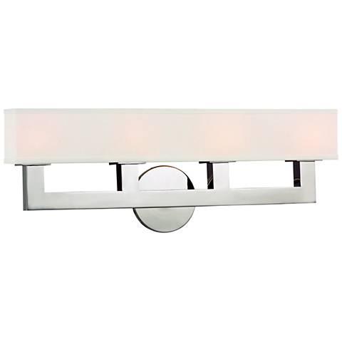"Hudson Valley Clarke 23""W Polished Nickel 4-LED Bath Light"