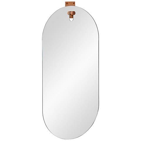"Cornice Glass 15"" x 30"" Oval Wall Mirror"