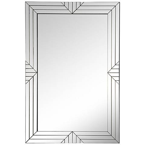 "Sloan Silver Mirror 23 3/4"" x 35 1/2"" Wall Mirror"