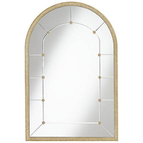 "Beige Accent 28 1/4"" x 42 1/4"" Arched Mirror"