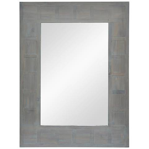 "Plata Hand-Painted Wood 30"" x 40"" Wall Mirror"