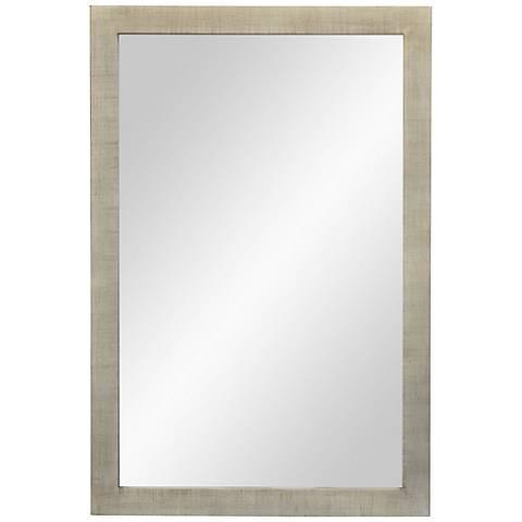 """Emery Silver Leaf Wood 24"""" x 36"""" Wall Mirror"""