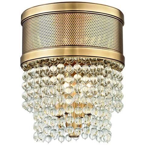"Hudson Valley Harrison 12 1/4"" Wide Aged Brass Ceiling Light"