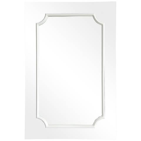 "Amerie White 24"" x 36"" Wall Mirror"