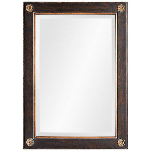 """Brunt Black Copper and Gold 24"""" x 36"""" Wall Mirror"""