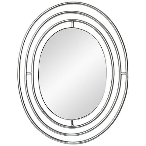 """Madera Silver Leaf 24"""" x 30 1/2"""" Wall Mirror"""