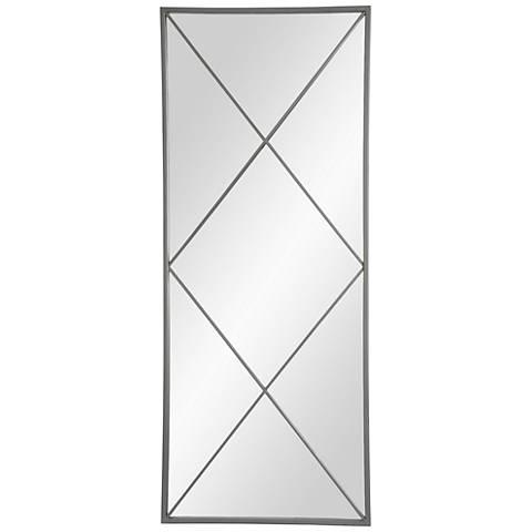 "Lode Raw Metal 18 1/2"" x 45 1/4"" Wall Mirror"
