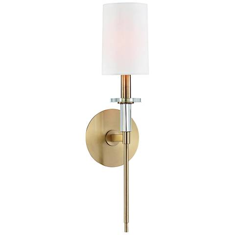 """Hudson Valley Amherst 18 3/4"""" High Aged Brass Wall Sconce"""