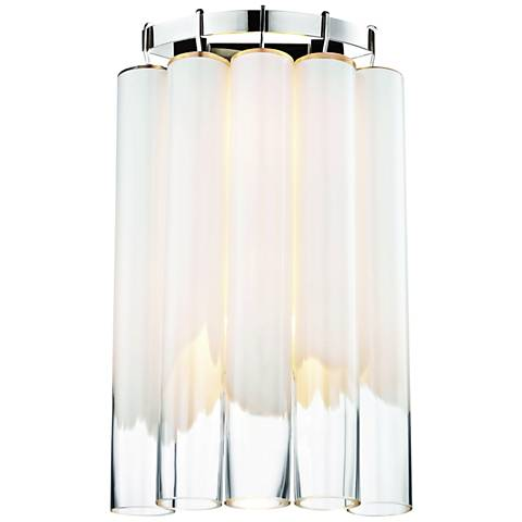 """Tyrell 20 3/4"""" High Polished Nickel Wall Sconce"""