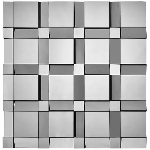"Quartz Glass 40"" Oversized Square Wall Mirror"