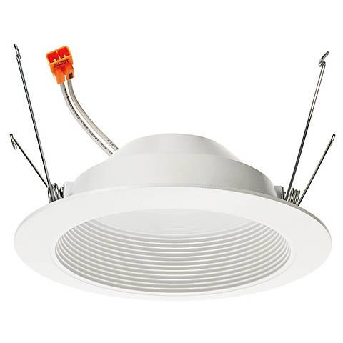 "5"" Juno 11.5 Watt 3000K LED Baffle Retrofit Trim in White"