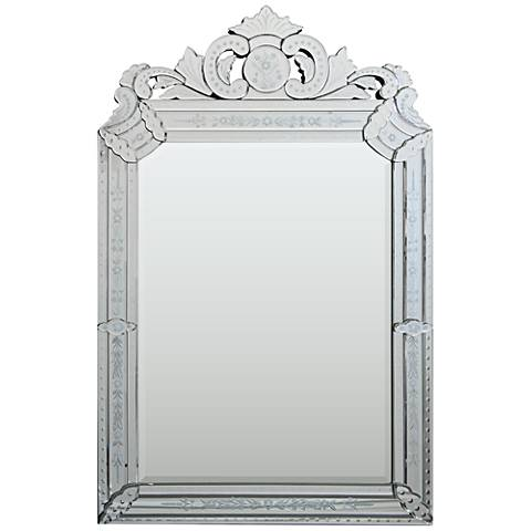 "Mansard Glass 26"" x 40"" Wall Mirror"
