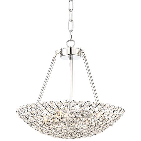 "Francesca 15 1/2"" Wide Chrome Crystal Pendant Light"