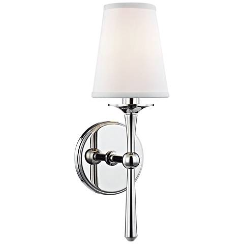 """Hudson Valley Islip 14 3/4"""" High Polished Nickel Wall Sconce"""